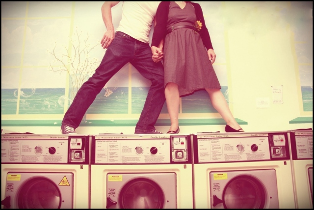 Laundromat Romance, Medford Oregon Photography